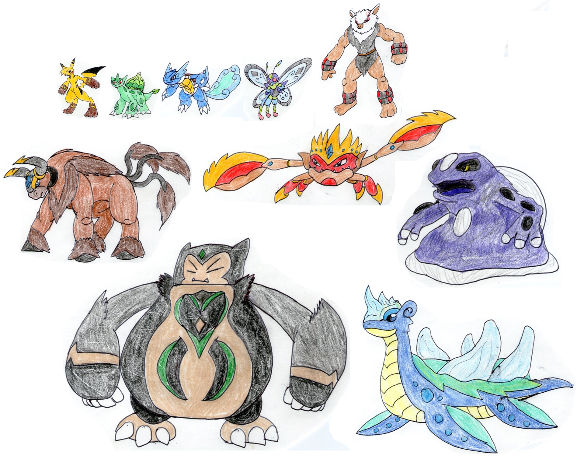Ash 39 s mega evolution team kanto by megalorex on deviantart - Evolution pokemon argent ...