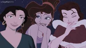 Belle Meg Marina Crossover by SweetKairi1992