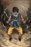 Going Super Saiyan by Yliime