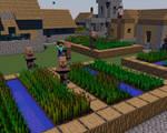 Minecraft Village (Cinema4D)