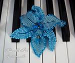 Brooch 'Blue Orchid'