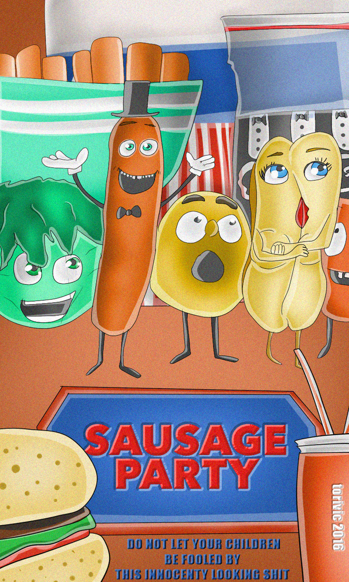 Sausage Party Poster In Disney Style By Torivic On DeviantArt