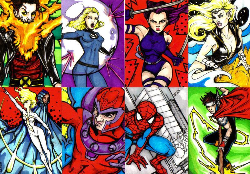 Marvel Art Cards By NickUnlimited On DeviantArt