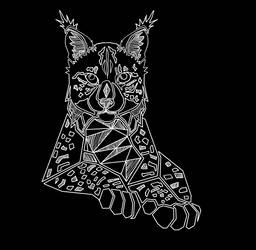 .:Iberian Lynx Lineart 2:. by matrix9000