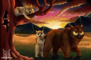 .:Owl Bear Family:. by matrix9000