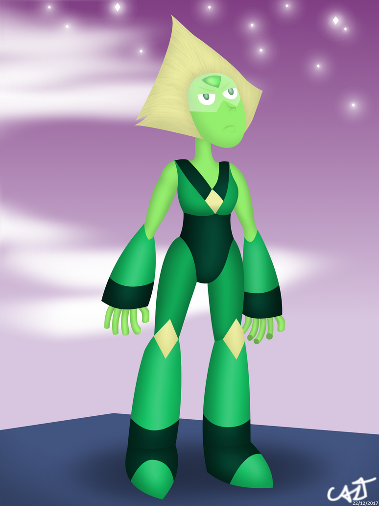 I wanted to draw Peridot with her Limb Enhancers meanwhile she's at Homeworld. This was the result. ----------------------------------------------------------------------- Quise dibujar a Peridot u...