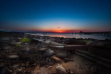 Port Mahon sunrise by noir
