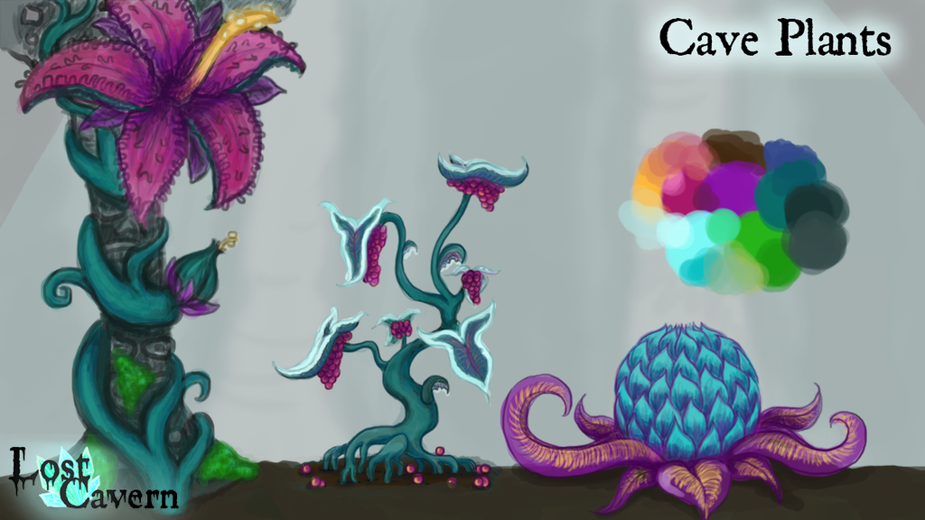 Cave plant concepts by Kalilak11