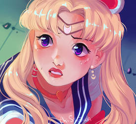 redrawn a frame from Sailor Moon~