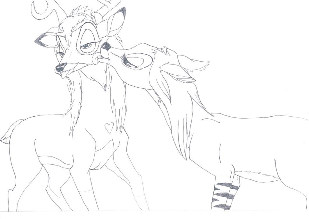 Deer sex drawing