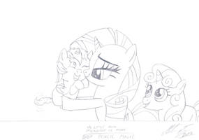 MLP:FiM - Rarity, Sweetie Belle and baby P.M. by MortenEng21