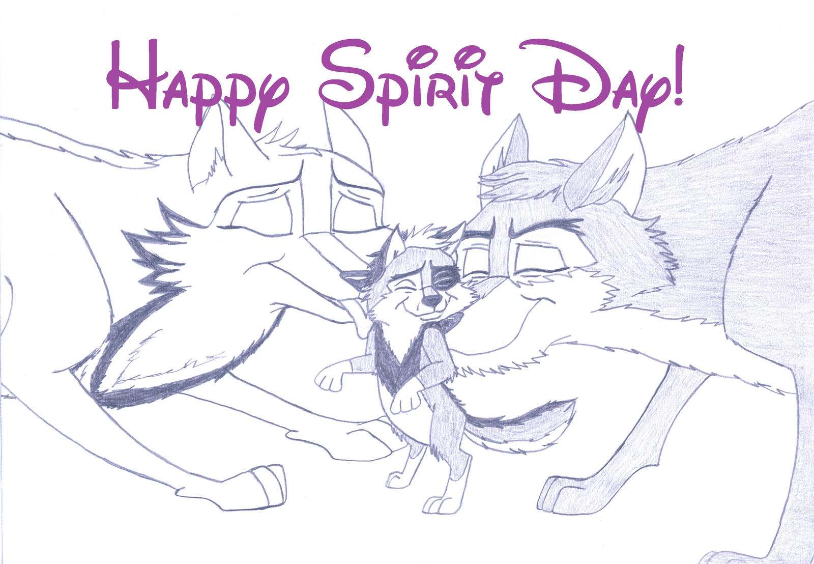 Kitara the wolfhound - Happy Spirit Day! by MortenEng21
