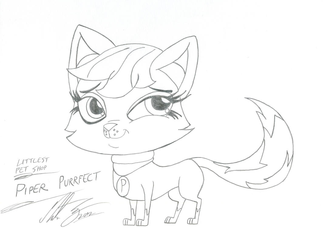 littlest pet shop piper purrfect 1 by morteneng21 on deviantart