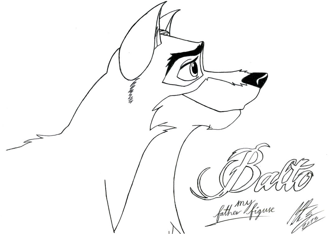Balto my father figure by morteneng21 on deviantart for Balto coloring pages