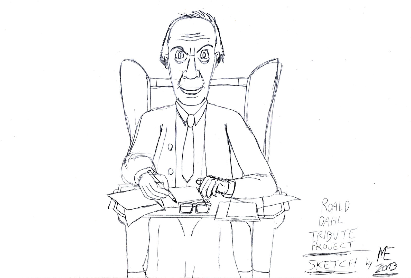 My Roald Dahl Tribute Sketch By Morteneng21 On Deviantart