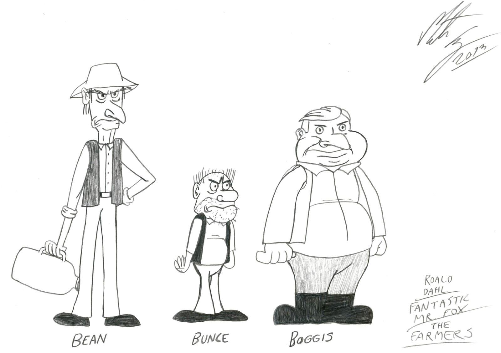 Roald Dahl Boggis Bunce And Bean By Morteneng21 On Deviantart