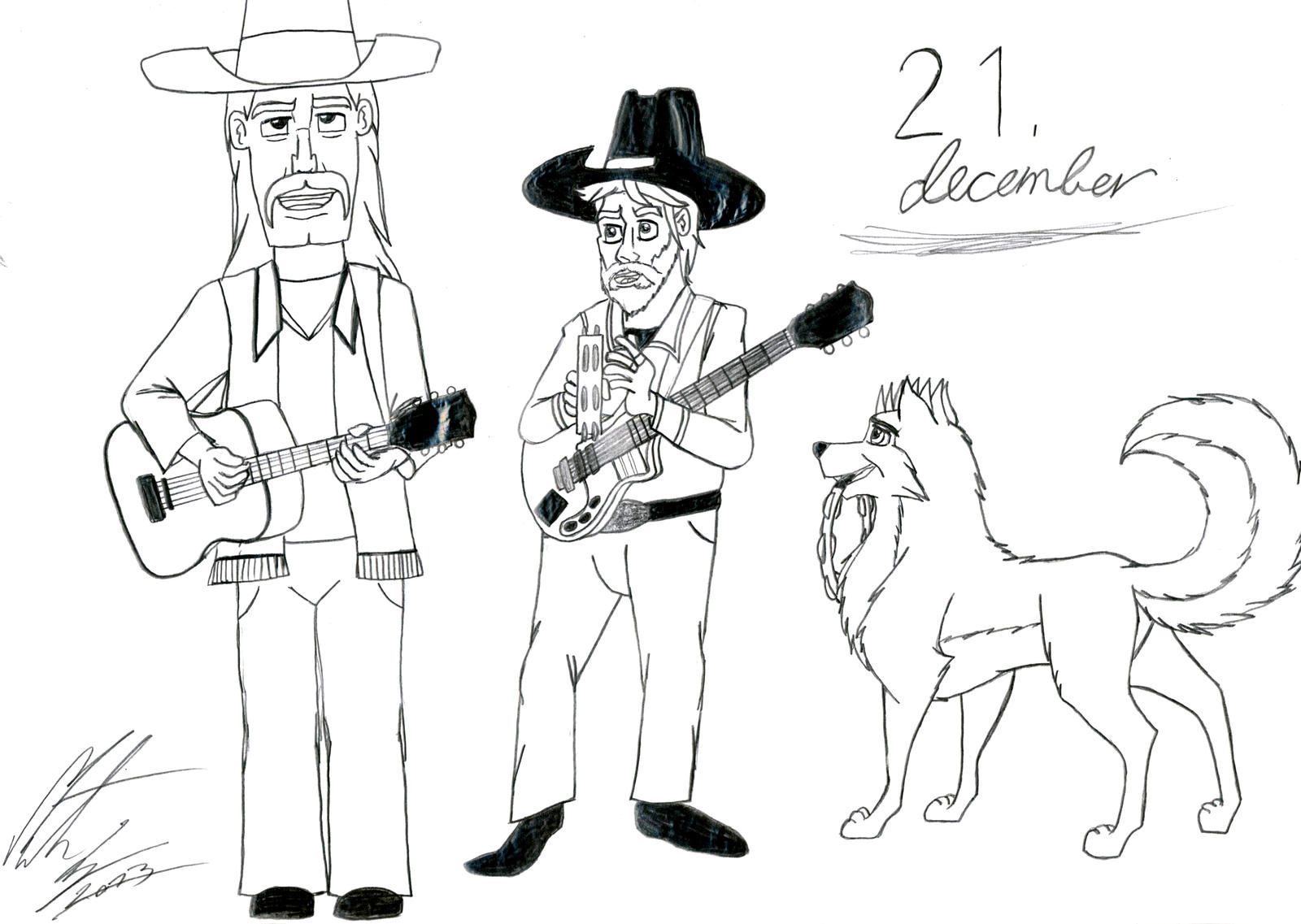Kitara the wolfhound - Dec. 21 by MortenEng21