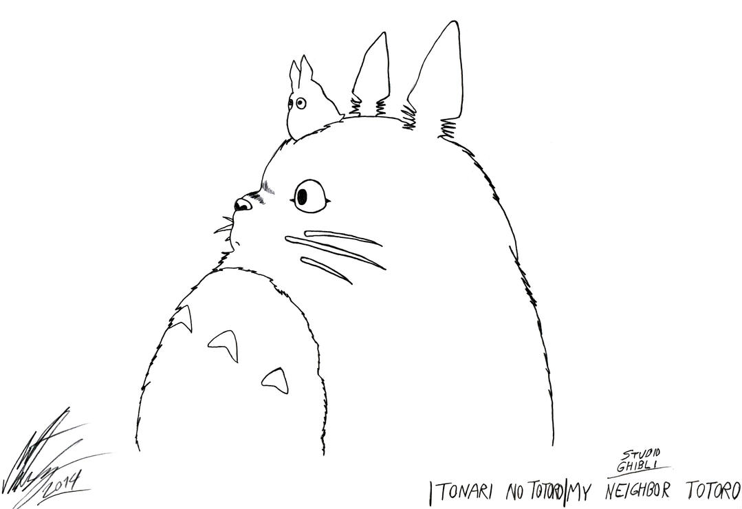 Studio ghibli my neighbor totoro by morteneng21 on for My neighbor totoro coloring pages