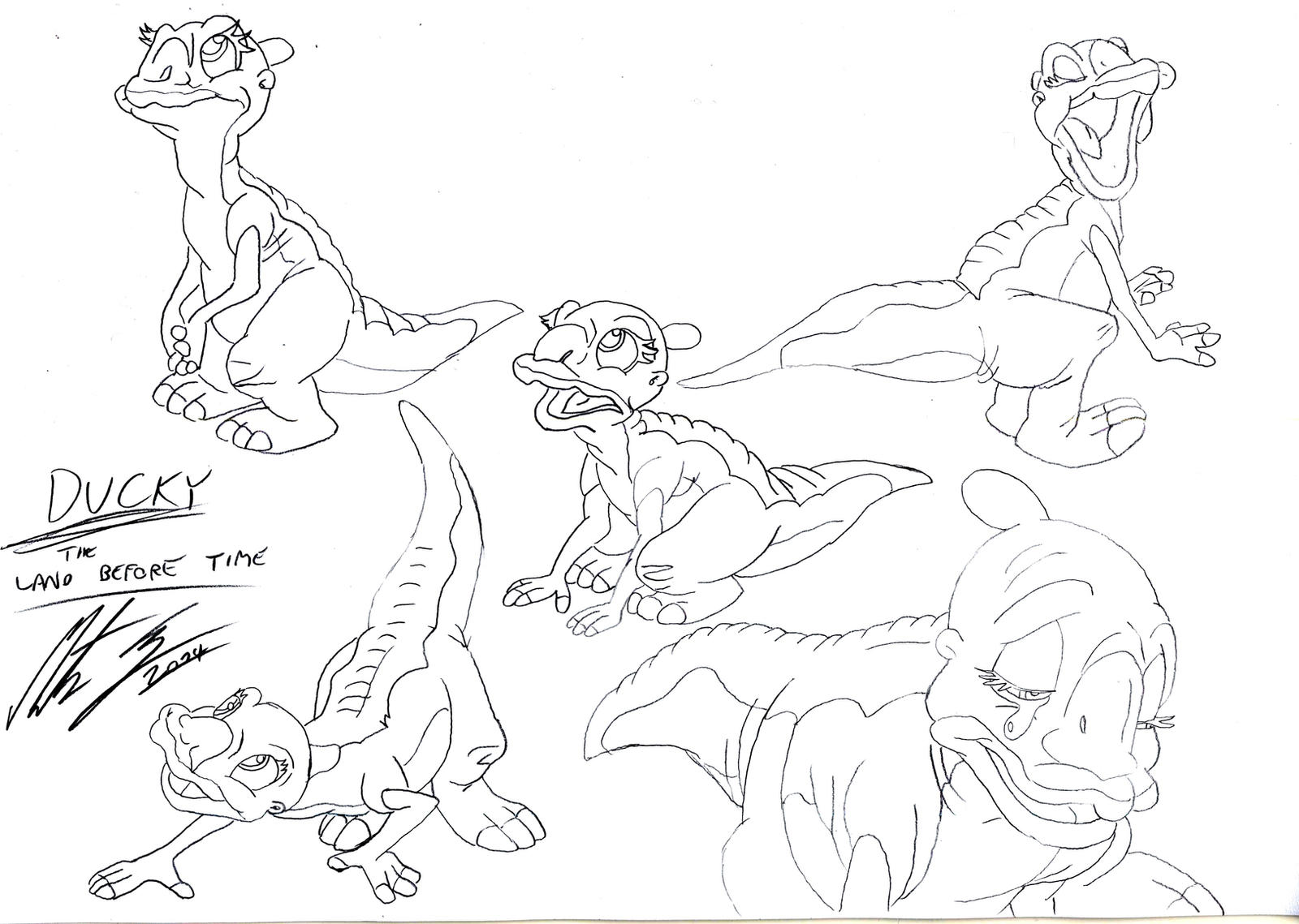 the land before time coloring pages - the land before time ducky by morteneng21 on deviantart
