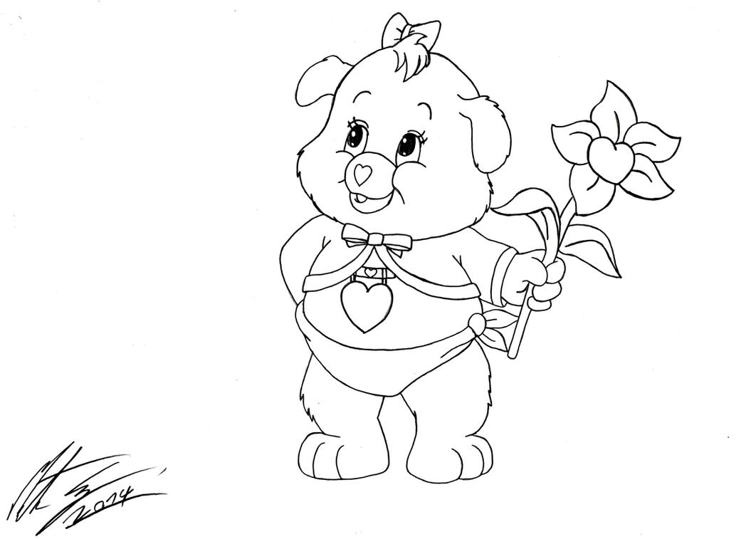 care bear heart coloring pages | Baby Care Bears Coloring Pages | Top Free Printable ...