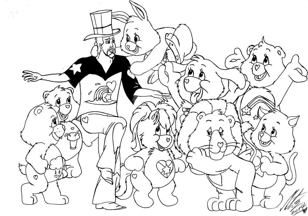 care bears coloring pages oopsy - photo#48