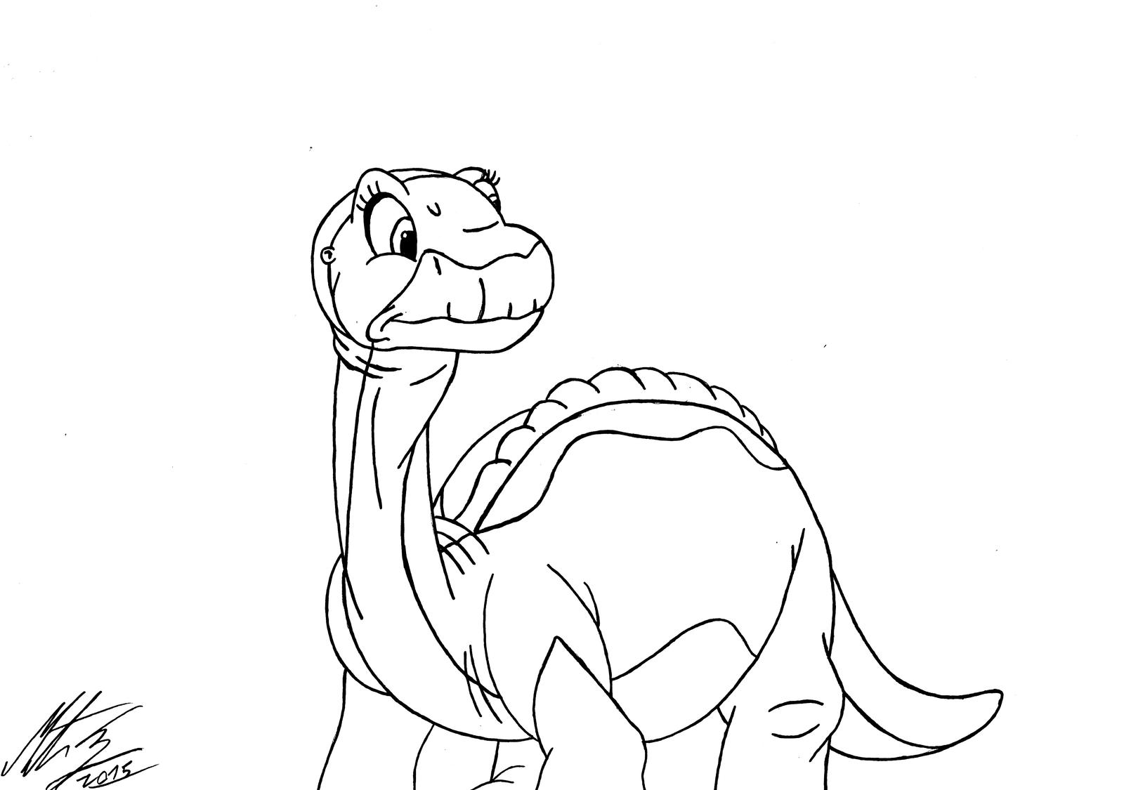 Land before time coloring pages littlefoot costume