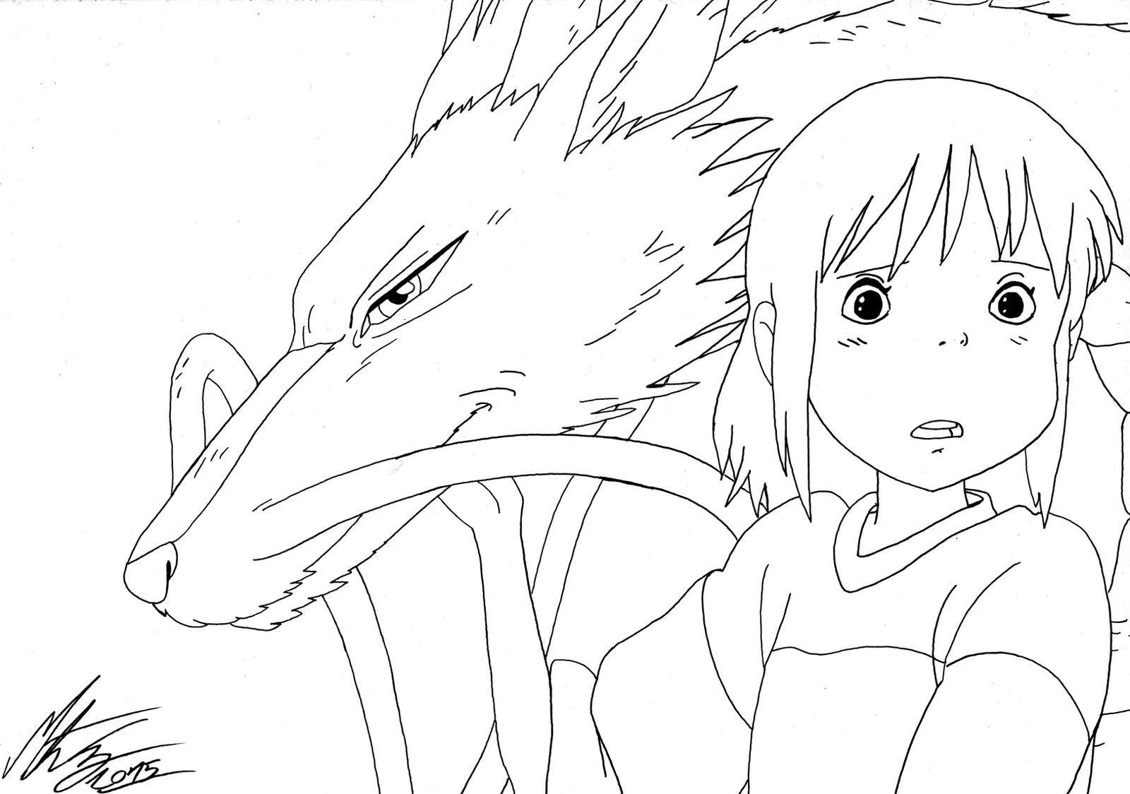 Studio Ghibli Spirited Away By Morteneng21 On Deviantart Spirited Away Coloring Pages