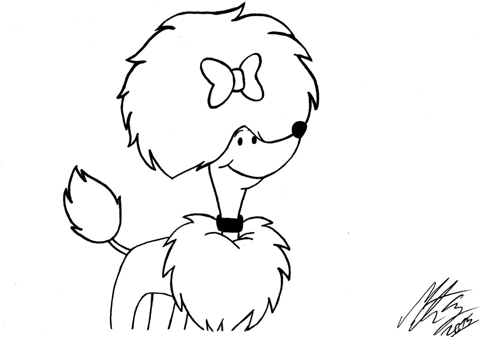 Clifford the Big Red Dog (inked version) by MortenEng21 on DeviantArt