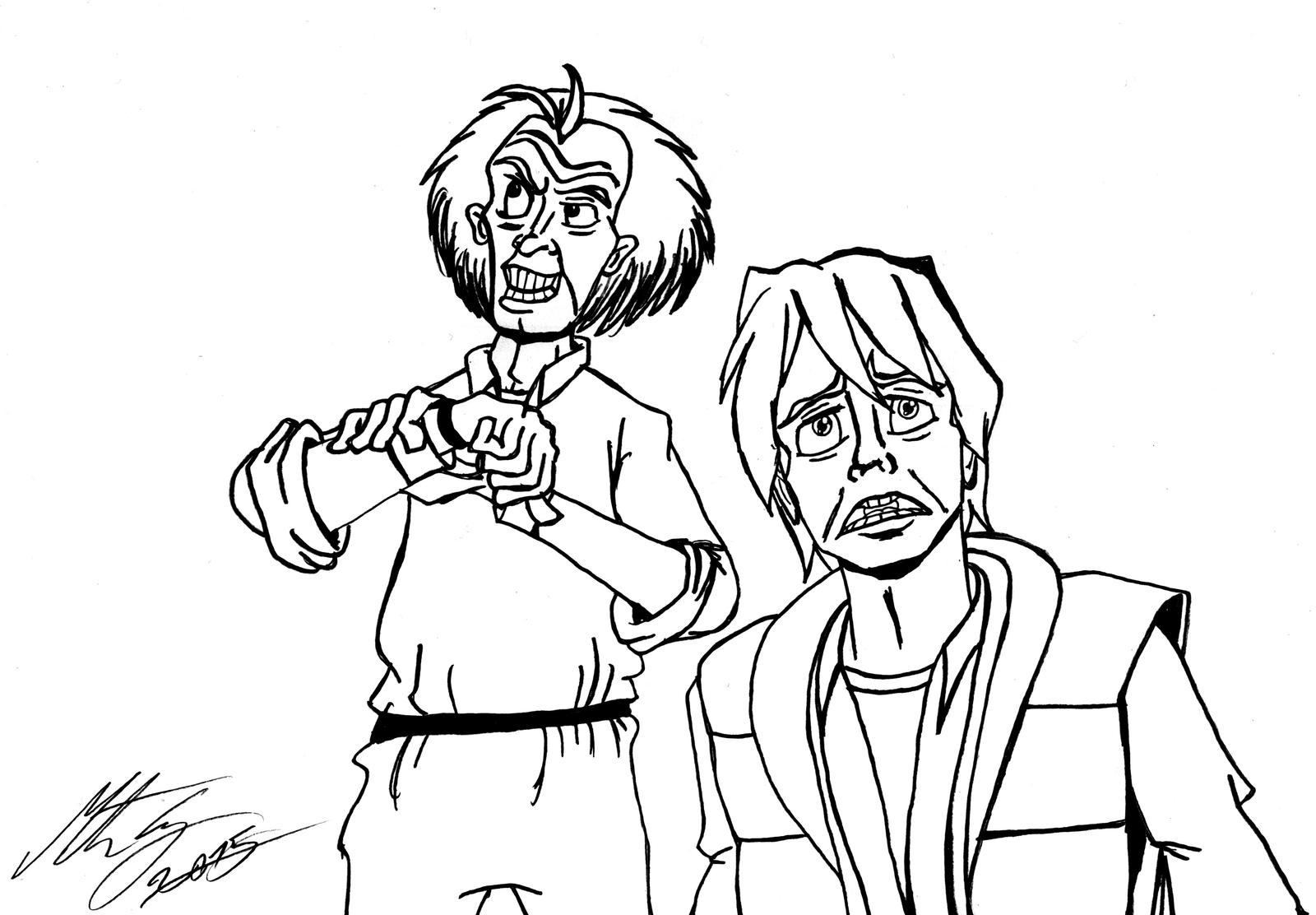 Back To The Future Marty And Doc Pages Coloring Pages