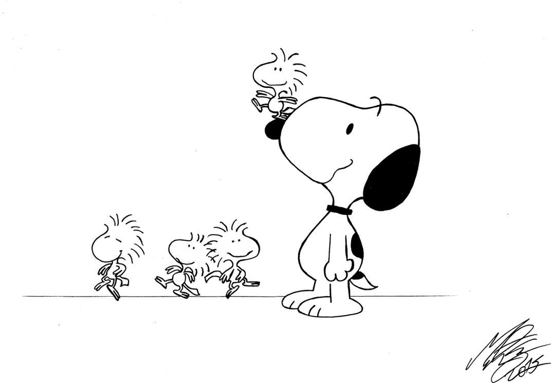 Peanuts - Snoopy, Woodstock and the birds by MortenEng21