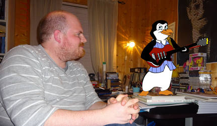 Me and Ricky the Penguin by MortenEng21