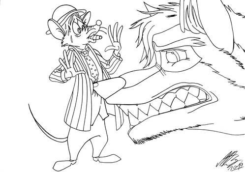 Kitara the wolfhound - Egon and Kitara