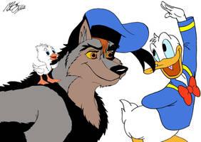 Kitara the wolfhound - Kitara, Roald and Donald