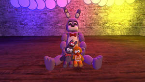 Baby Bonnie with plushies