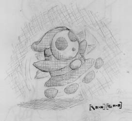 Crosshatched Shy Guy by Ter-Thok