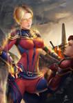 Captain marvel : end game suit