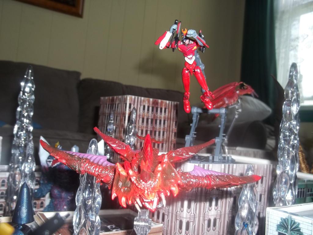 Eva Unit 2 jumps Destroyah Flying Form by GodzillaKing on DeviantArt