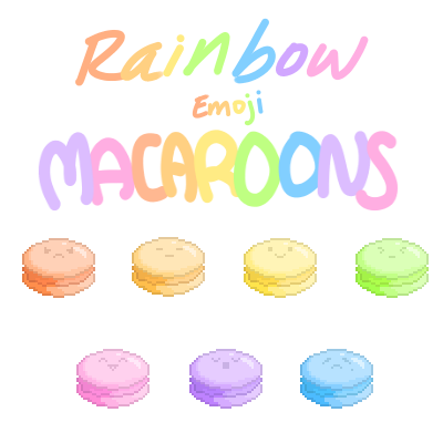 Rainbow Emoji Macaroons by Kouramiki