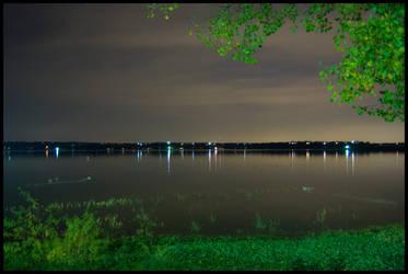 Weatherford Lake at Night -3-