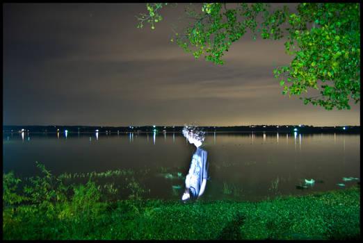 Weatherford Lake at Night -4-