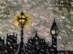 The Lanterns of Snowy London