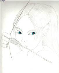 Elven Archer by ZaraeZyne
