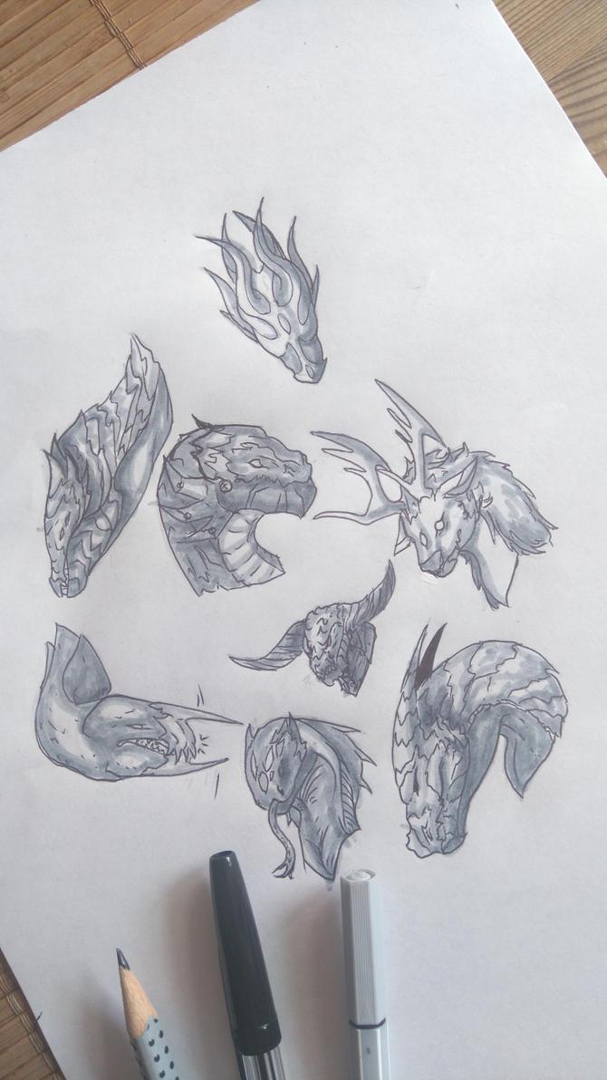 Dragon skribbles 2 by Aaliyah-chan02