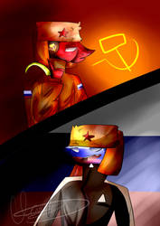 Soviet and Russia  by FrexdyXD1234