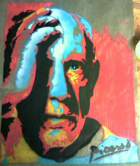Pablo Picasso Stencil  COLOR by knifepArty43