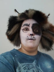 Pouncival wig and face
