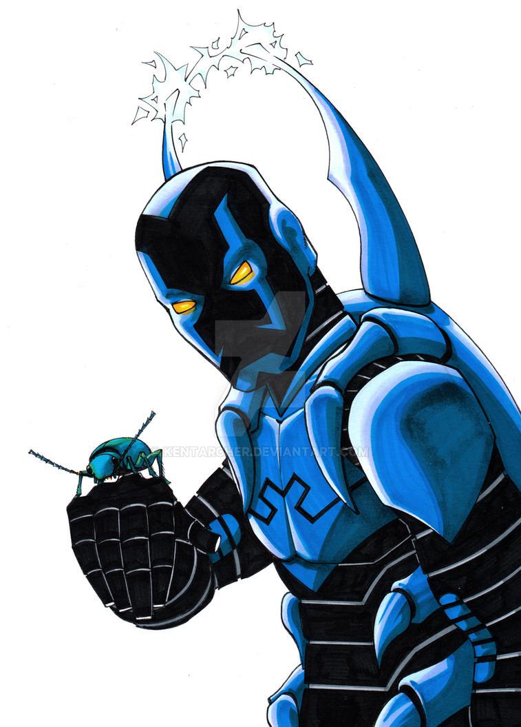 Blue Beetle sketch by kentarcher