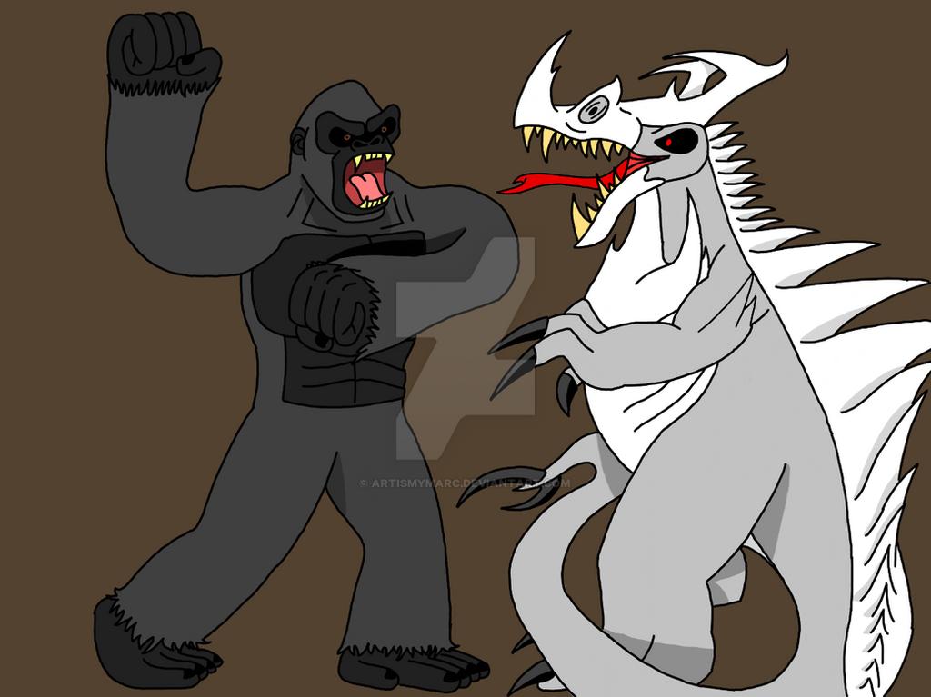 Kong VS Skull Walker by ArtIsMyMarc