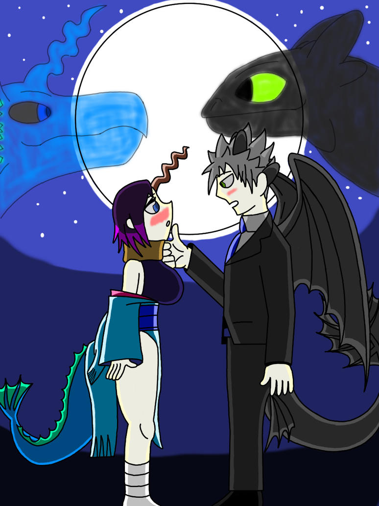 Dragons under the stars by ArtIsMyMarc