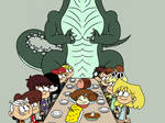 Loud House Thanksgiving with Godzilla